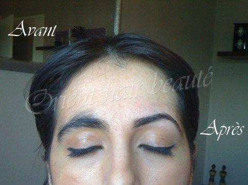 avant apres sourcils coiffure maquillage libanais henne. Black Bedroom Furniture Sets. Home Design Ideas
